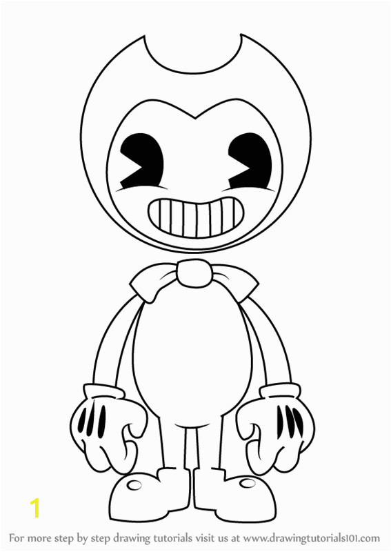Ink Bendy Coloring Pages Learn How to Draw Bendy From Bendy and the Ink Machine
