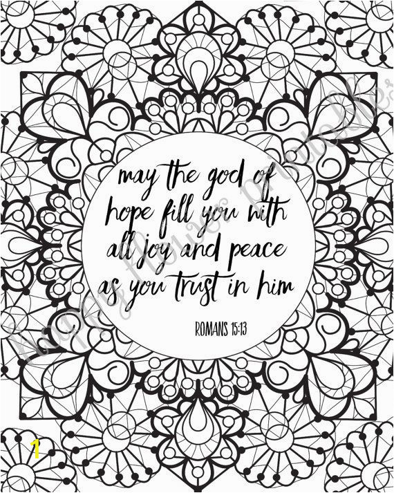 Inspirational Bible Verses Coloring Pages 12 Bible Verse Coloring Pages Instant by