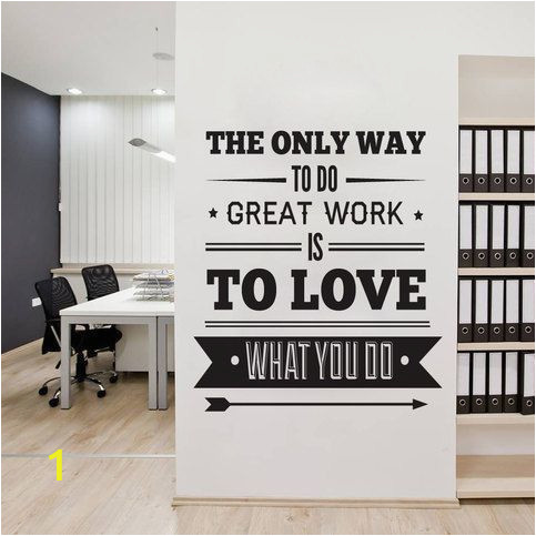 Inspirational Quotes Wall Murals Fice Decor Typography Inspirational Quote Wall Decoration