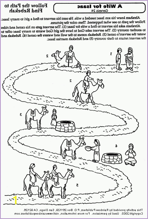 isaac and rebekah coloring pages pt9f a wife for isaac coloring page kids korner biblewise isaac and