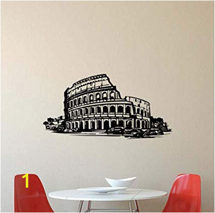 Italian themed Wall Murals Amazon Diuangfoong Coliseum Wall Decal Rome Italian