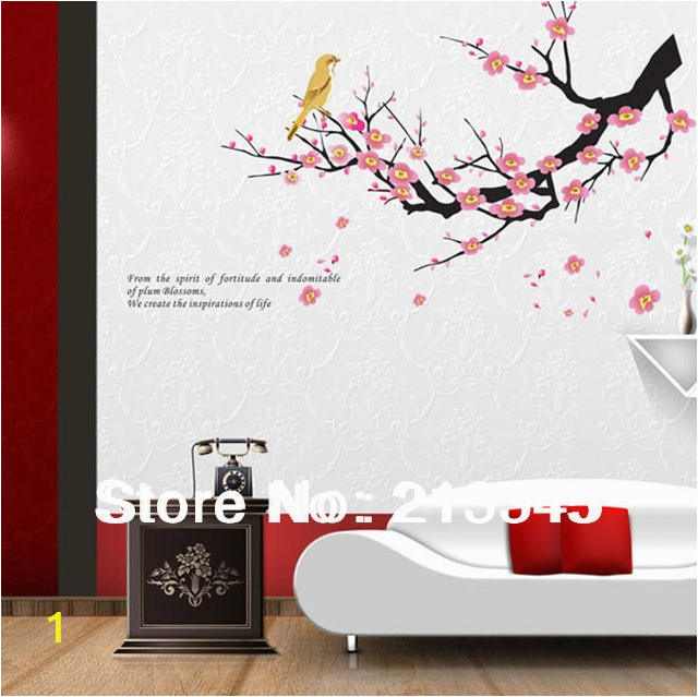 Fundecor diy home decor wall decals tree branches wall deco mural flower bird art stickers