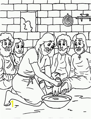 Jesus Washes the Disciples Feet Coloring Page Coloring Pages Jesus and His Disciples