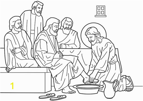 c4f6d08c17ad4077fd2c f870 jesus washes his disciples feet in miracles of jesus coloring page 600 425