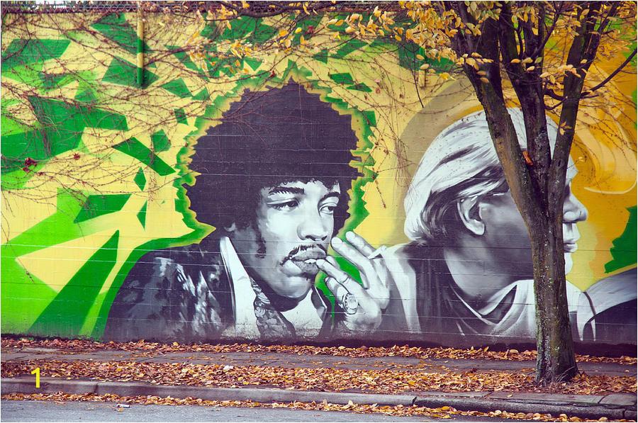 Jimi Hendrix Wall Mural Jimi Hendrix In Vancouver