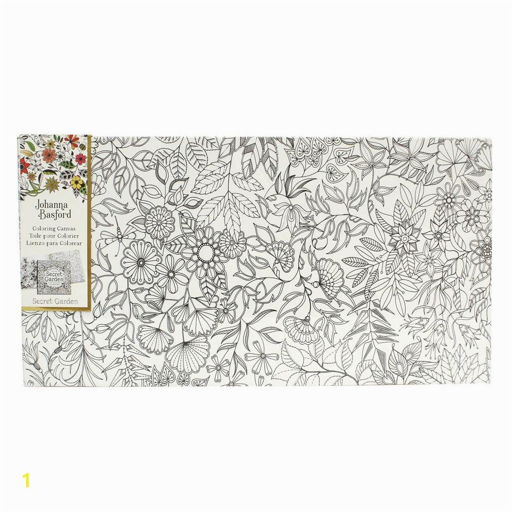 johanna basford coloring canvas floral landscape