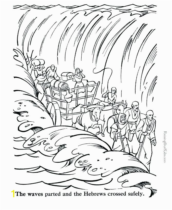 coloring pages and new bible color x free printable of joshua crossing the jordan river