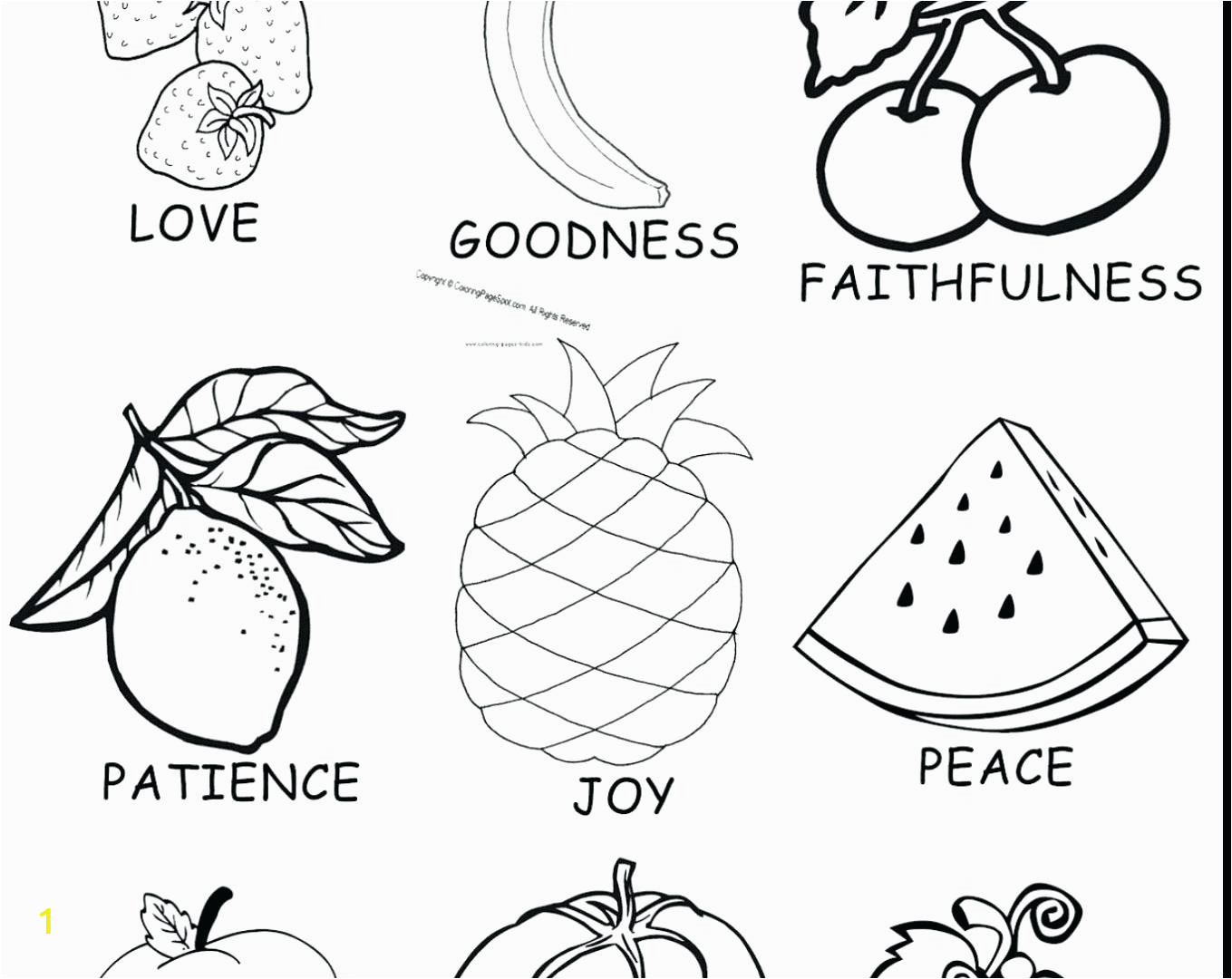 fruits of the spirit coloring pages printable lovely fruit joy s bible friendship sheet