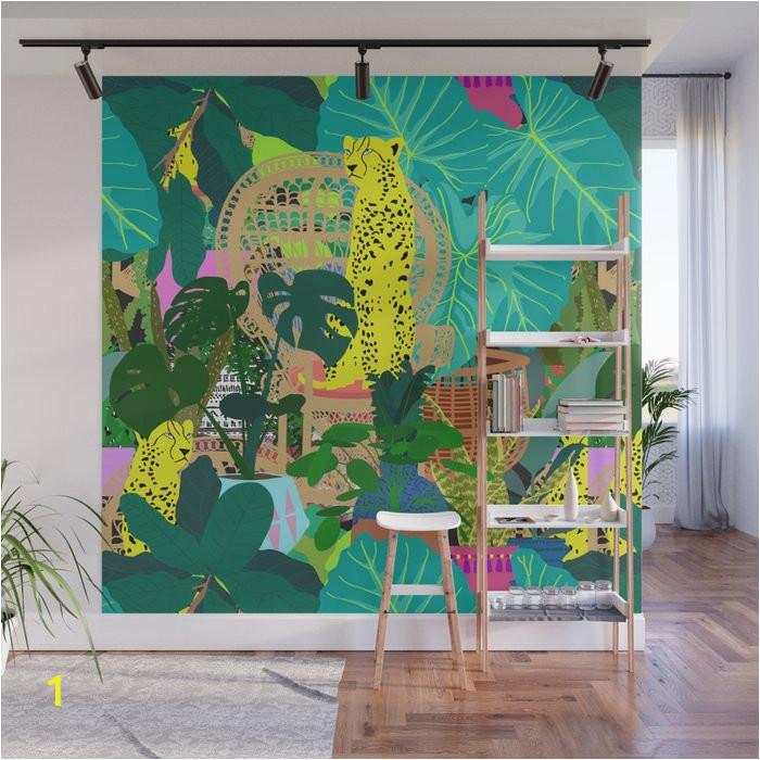 maximalist boho jungle wall murals