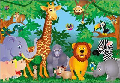 Jungle Safari Wall Mural Kids Jungle Mural