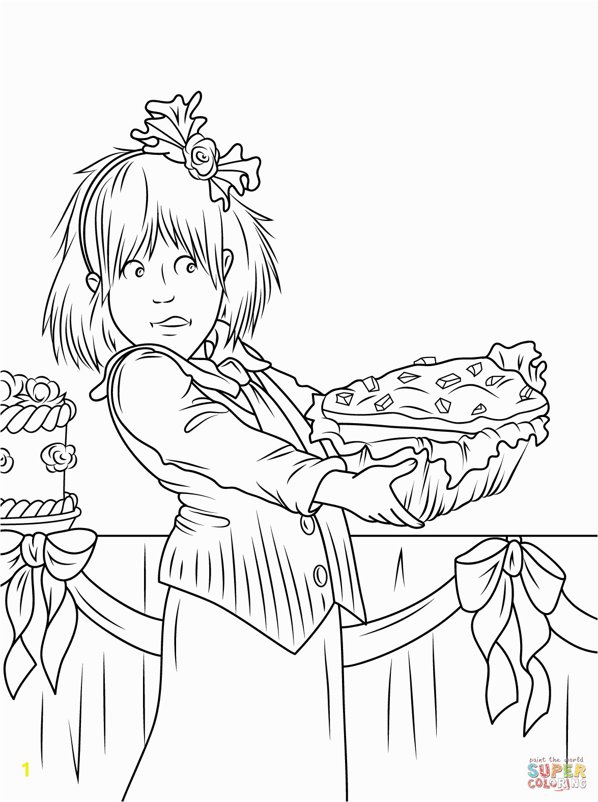 fruit cake coloring pages junie jones and the yucky blucky fruitcake page color