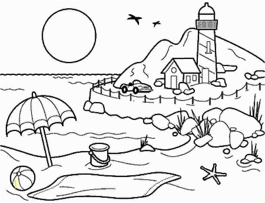 Kids Coloring Pages Beach Coloring Pages Summer Season Pictures for Kids Drawing Free