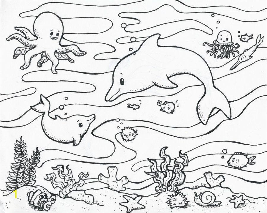 Kids Coloring Pages Ocean Free Ocean