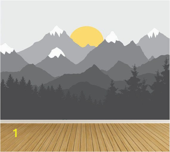 Kids Mountain Wall Mural Wall Decals Mountain Wall Decal Wall Mural Sticker Mountains
