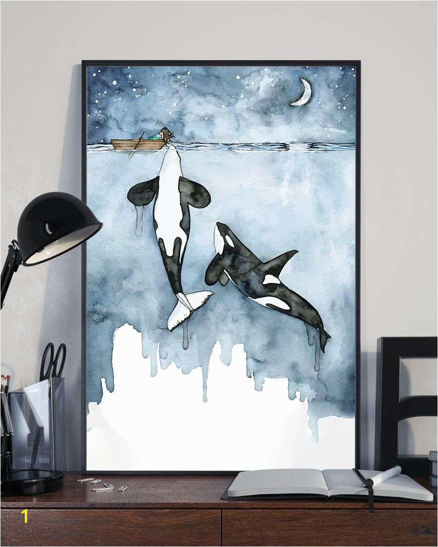 Killer Whale Wall Murals Killer Whale and Girl Whale Poster