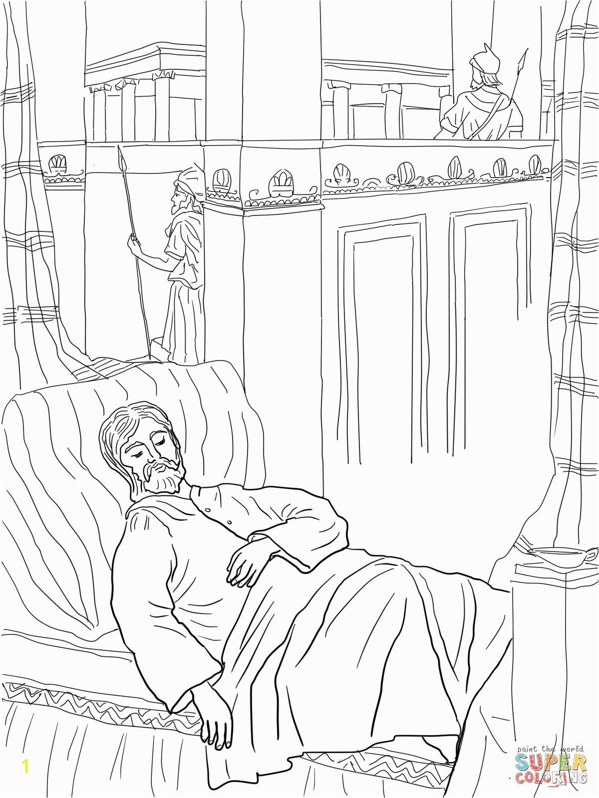 King solomon Coloring Page solomon asks for Wisdom Coloring Page