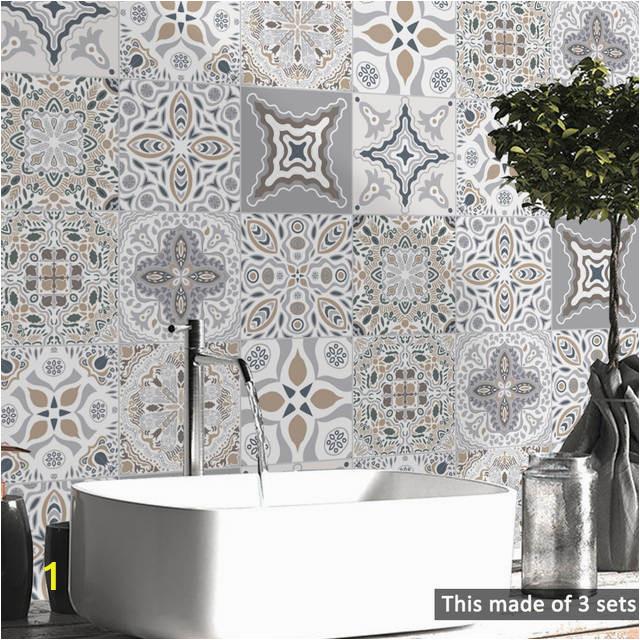 15 15cm 20 20cm Retro DIY PVC Waterproof Self adhesive Wall Decals Art Furniture Bathroom Kitchen 640x640q70