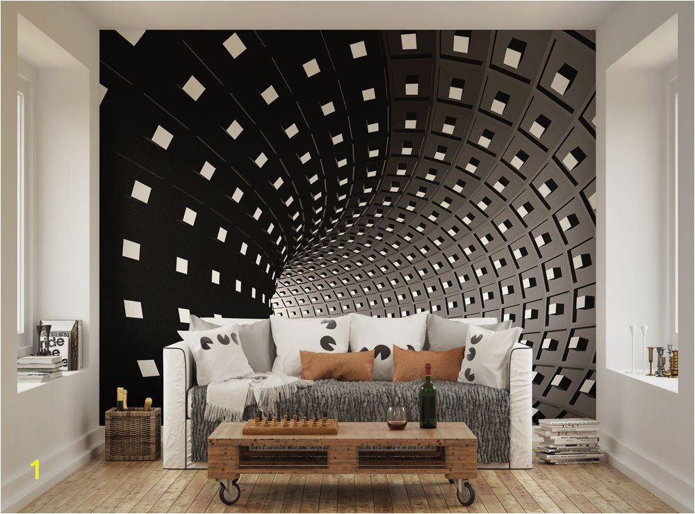 Kitchen Wall Murals Uk Ohpopsi Abstract Modern Infinity Tunnel Wall Mural Amazon