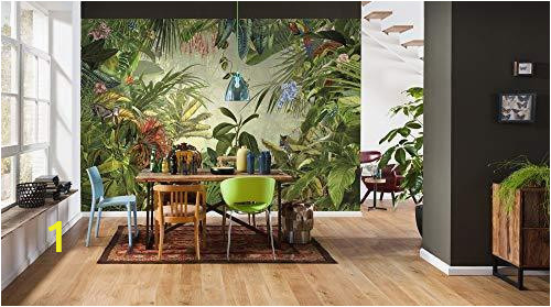 komar xxl4 031 into the wild tropical rain forest scenic wallpaper mural green 368 x 248 cm set of 4 pieces grande