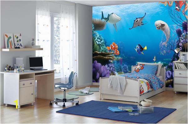 komar 8 497 disney finding dory wallpaper mural 368 x 254cm multi colour set of 8 pieces grande