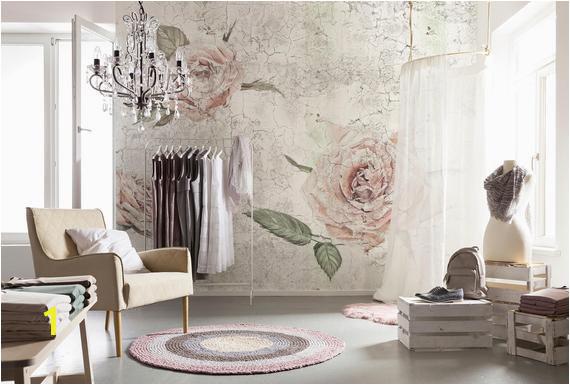 La Maison Wall Mural Floral Komar Decal Komar Tantinet Modern Floral Pink Rose Wall Mural Decal Xxl4 049