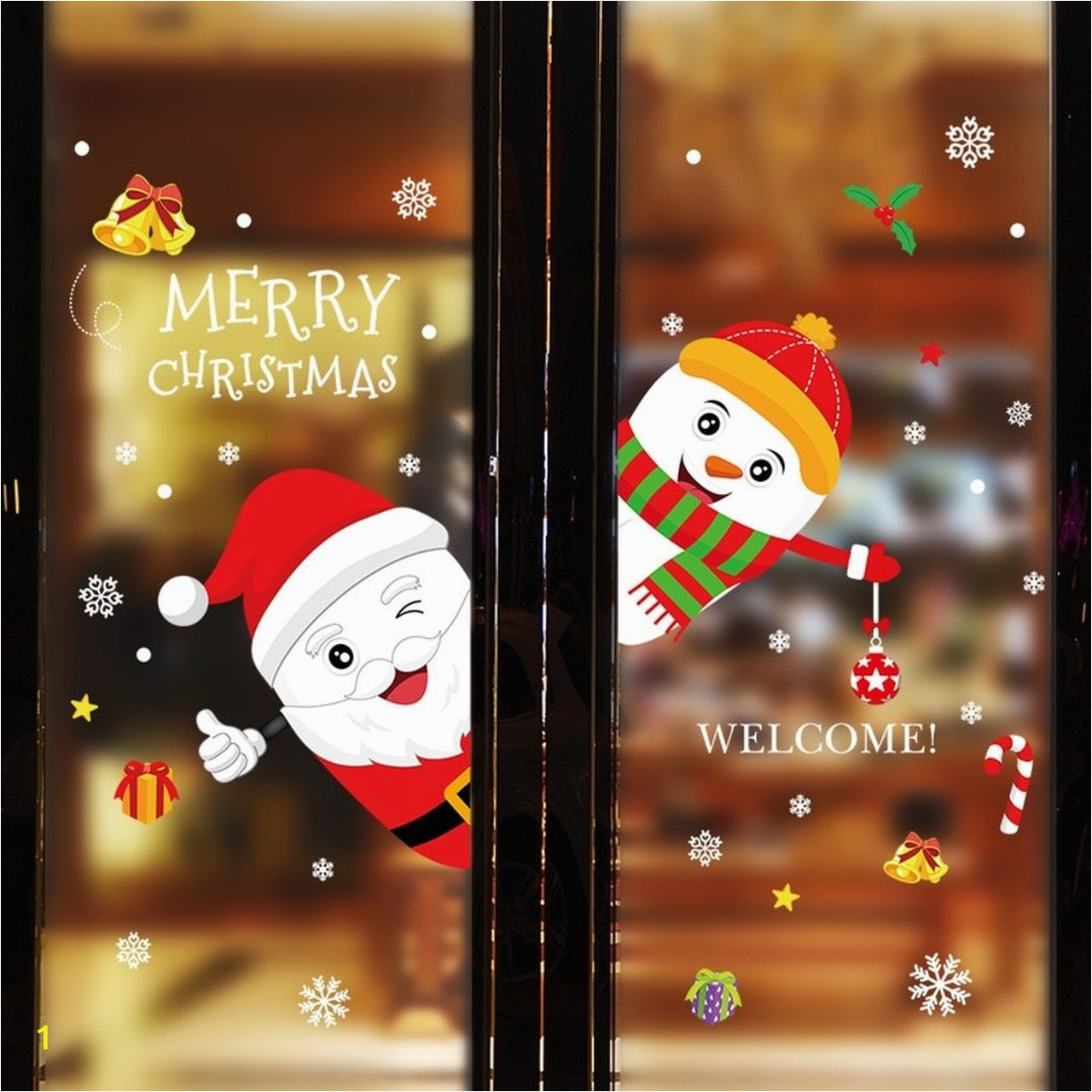 DIY Merry Christmas Wall Stickers Window Glass Festival Decals Santa Murals New Year Christmas Decorations for c=2