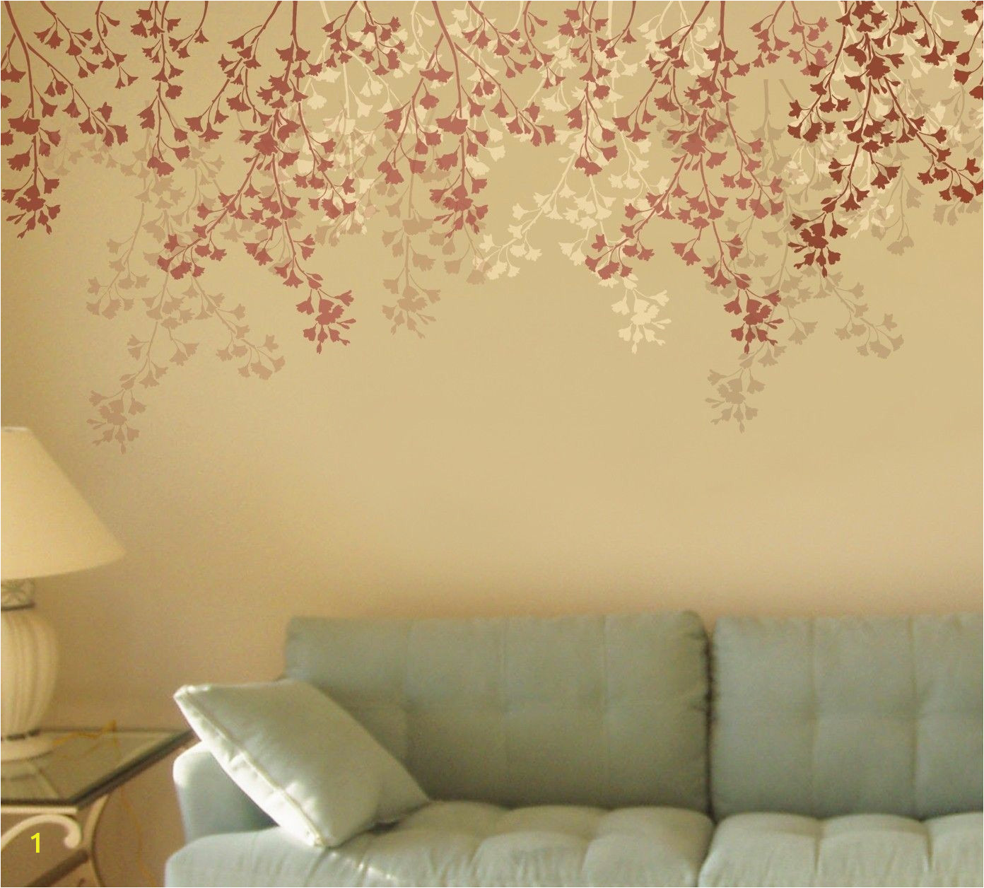 Large Wall Mural Stencils Stencil for Walls Weeping Cherry Stencil for