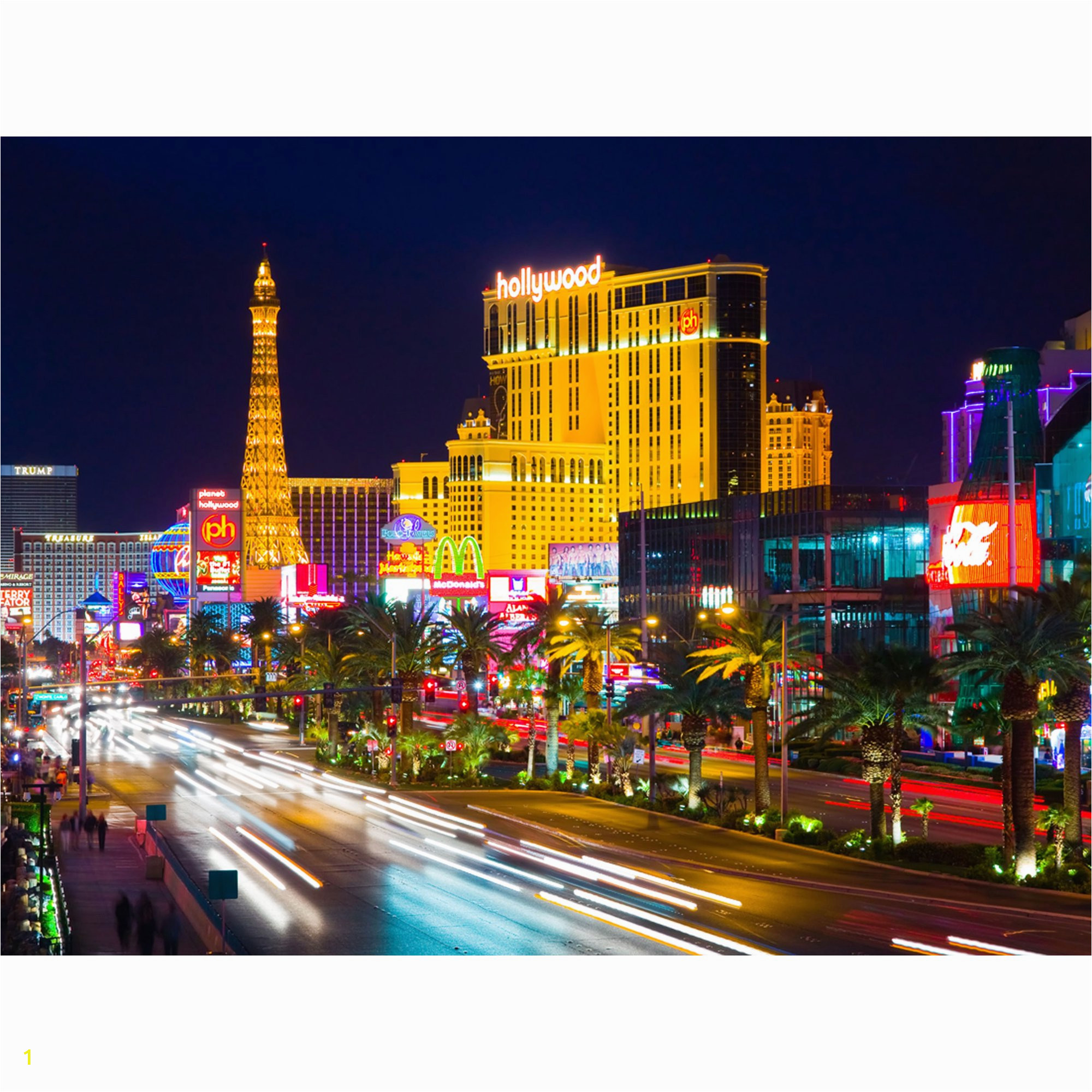 "Las Vegas Strip Wall Mural Las Vegas Strip Casino Hotels at Night Wall Mural Non Woven Wallpaper Made In Europe for Living Room Family Room Bedroom 11 10"" H X 8 10"" V"