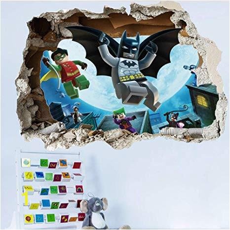 Lego Batman Wall Mural Getek Cool Batman Art Vinyl Wall Stickers Wall Decals Mural