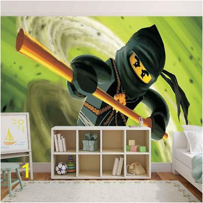 lego ninjago photo wallpaper woven self adhesive wall mural art kids room m144
