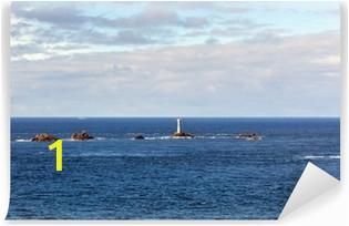 wall murals longships lighthouse cornwall coast lands end england