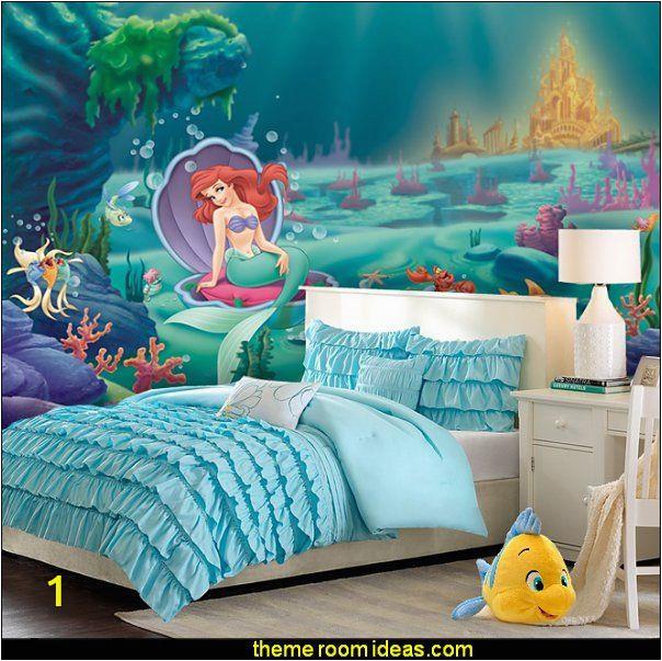 Little Mermaid Wall Mural Ariel Mermaid Waterfall forter Little Mermaid Ariel theme