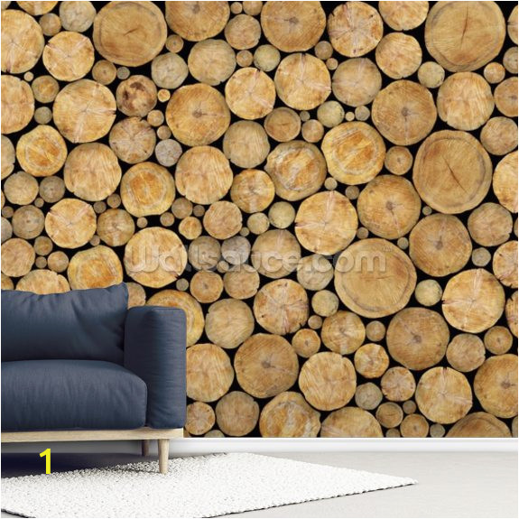 stacked log pile wallpaper