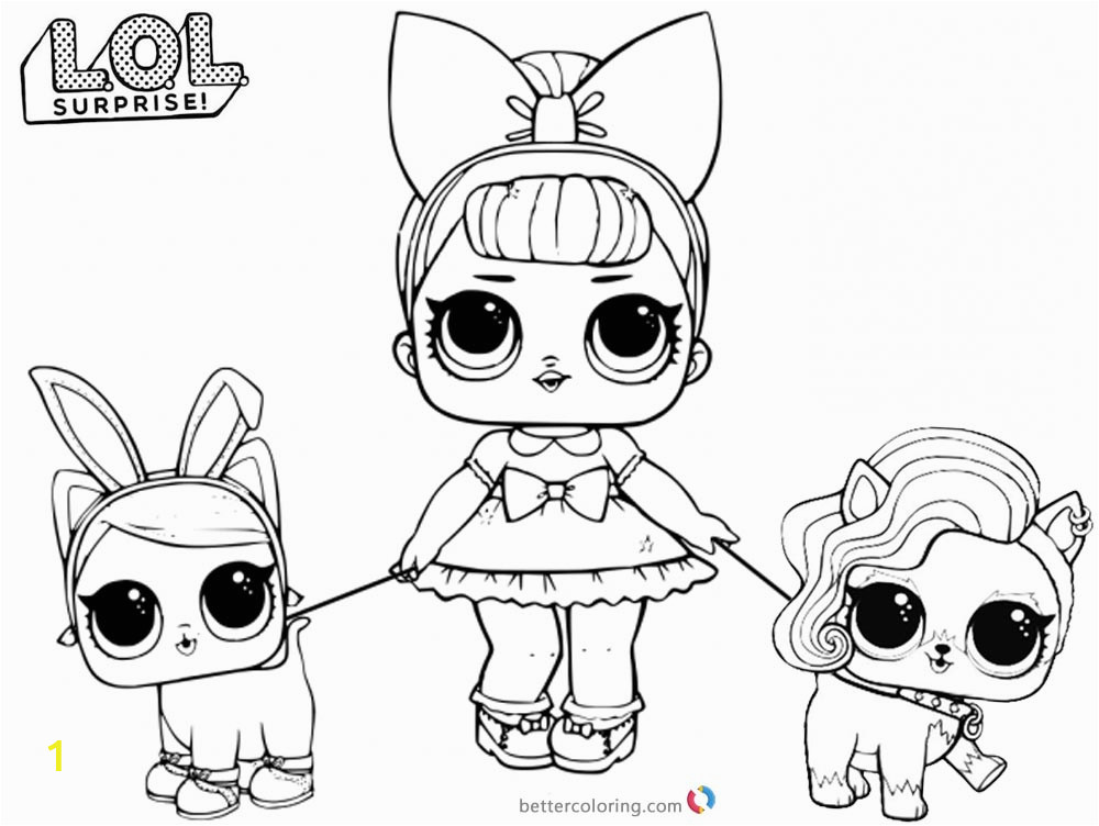 LOL Doll and Pets Coloring Pages