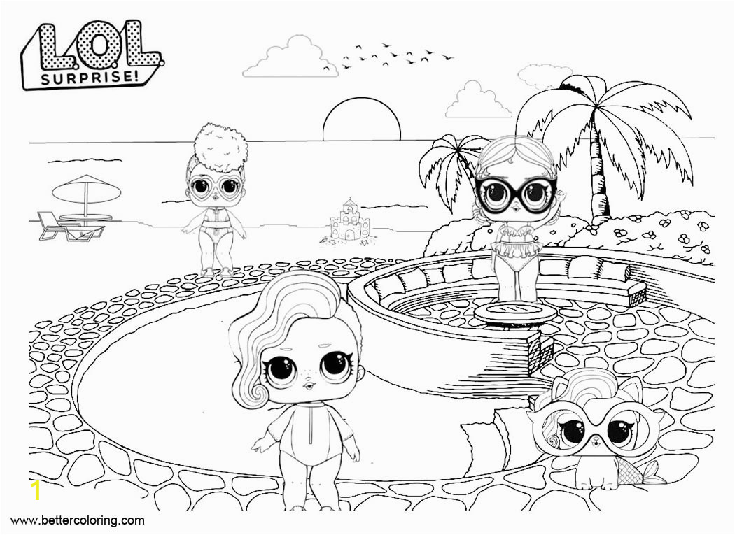 Lol Doll Pets Coloring Pages Divyajanani Org