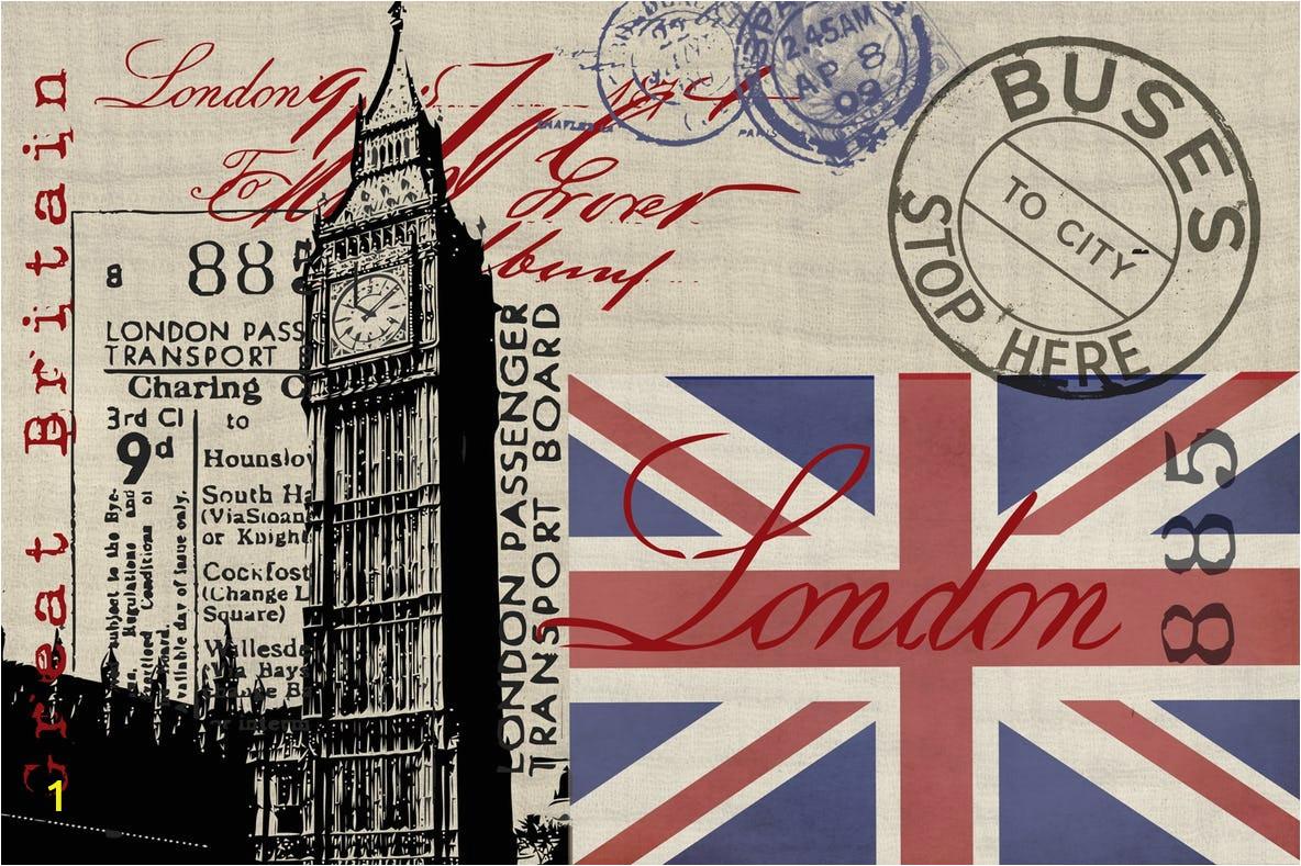 vintage london collage display