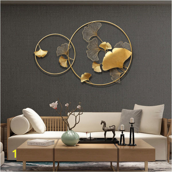 Make Wall Mural From Photo New Chinese Wall Wrought Iron Ginkgo Biloba Home Decoration Crafts Creative Wall Hanging sofa Background Mural ornament Decor Cj Love Wall