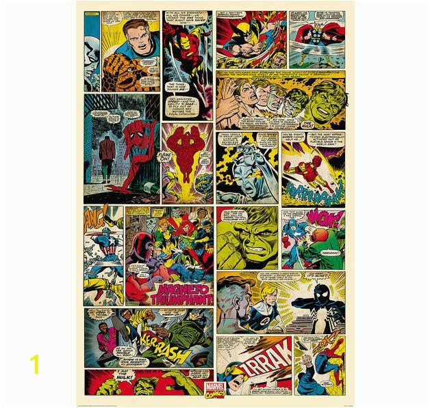 Marvel Comic Book Wall Mural Marvel Fototapete Ic 232×158 Cm Hier Bei