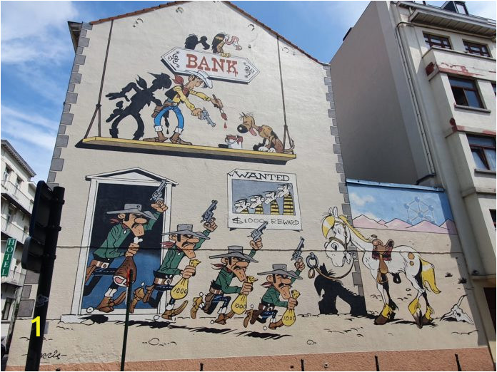 Marvel Comics Mural Wall Graphic Ic Strip Route In Brüssel