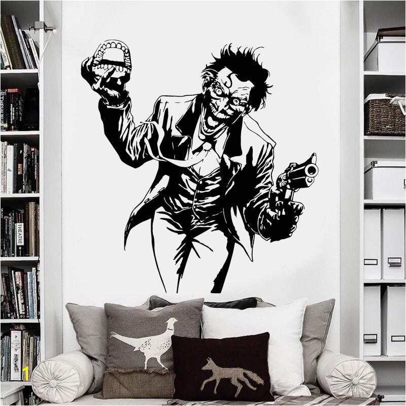 Heath Ledger Joker Wall Sticker ics Superhero DC Marvel Vinyl Decal Home Interior Decoration Room Art