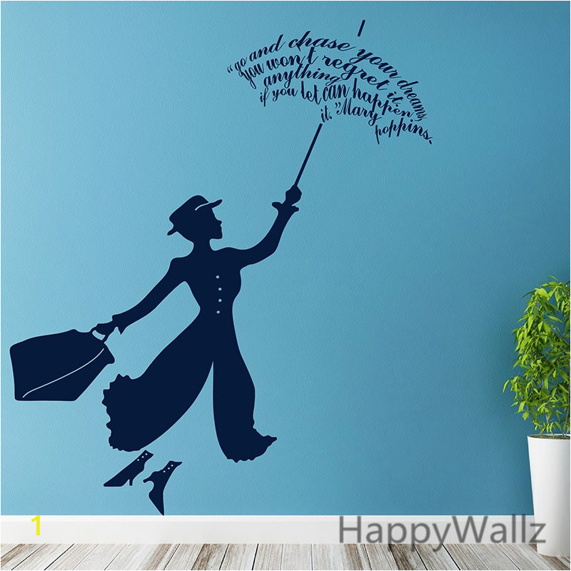 Mary Poppins naklejki cienne film Mary Poppins naklejka DIY wymienny dekoracje cienne nowoczesne Vinyl Wall Art