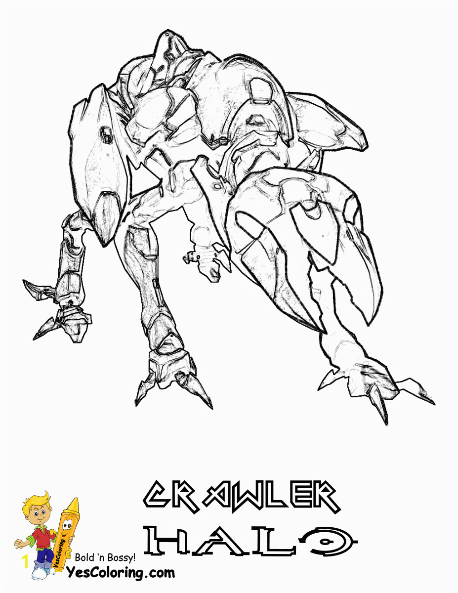25 halo 4 crawler at coloring pages for kids boys color heroic halo coloring free master chief recon tremendous