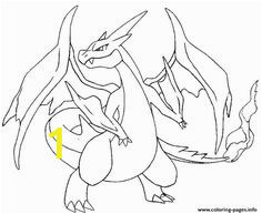 Mega Charizard Y Coloring Page 10 Best Pokemon Images