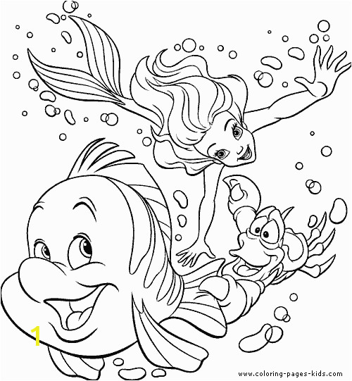 Mermaid Coloring Pages Easy the Little Mermaid Color Page Disney Coloring Pages Color