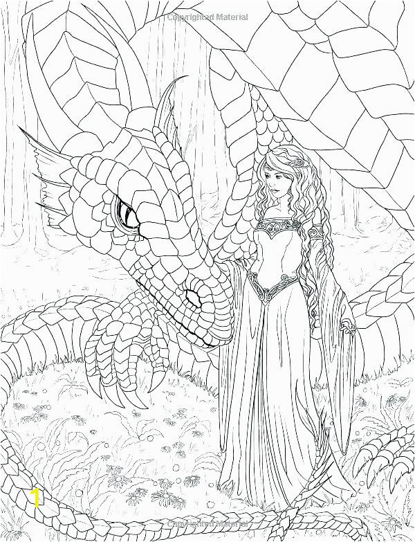 mermaid coloring pages for adults adult dragon mythical mystical detailed free f