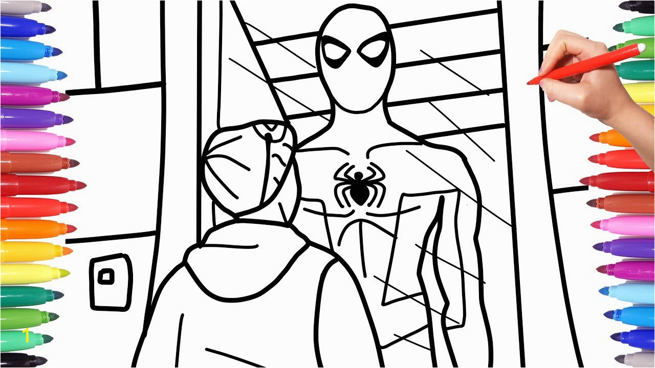 9 spiderman spiderverse coloringvideos spiderman coloring pages how to draw spiderman miles morales