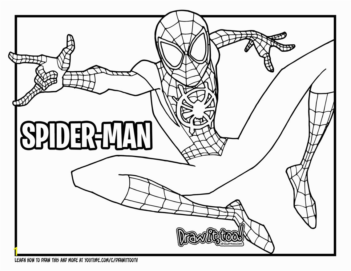 2 the miles morales spider man coloring page here how to draw miles morales spider man into the spider verse drawing