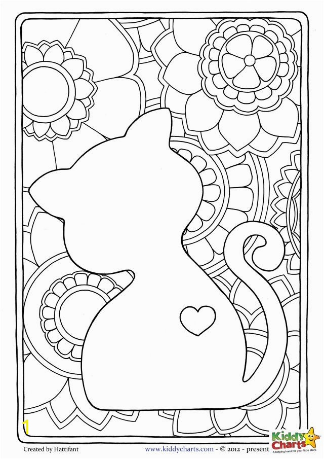 46e075ff9bb73b7944fc31cf free cat mindful coloring pages for kids adults pinterest 640 905