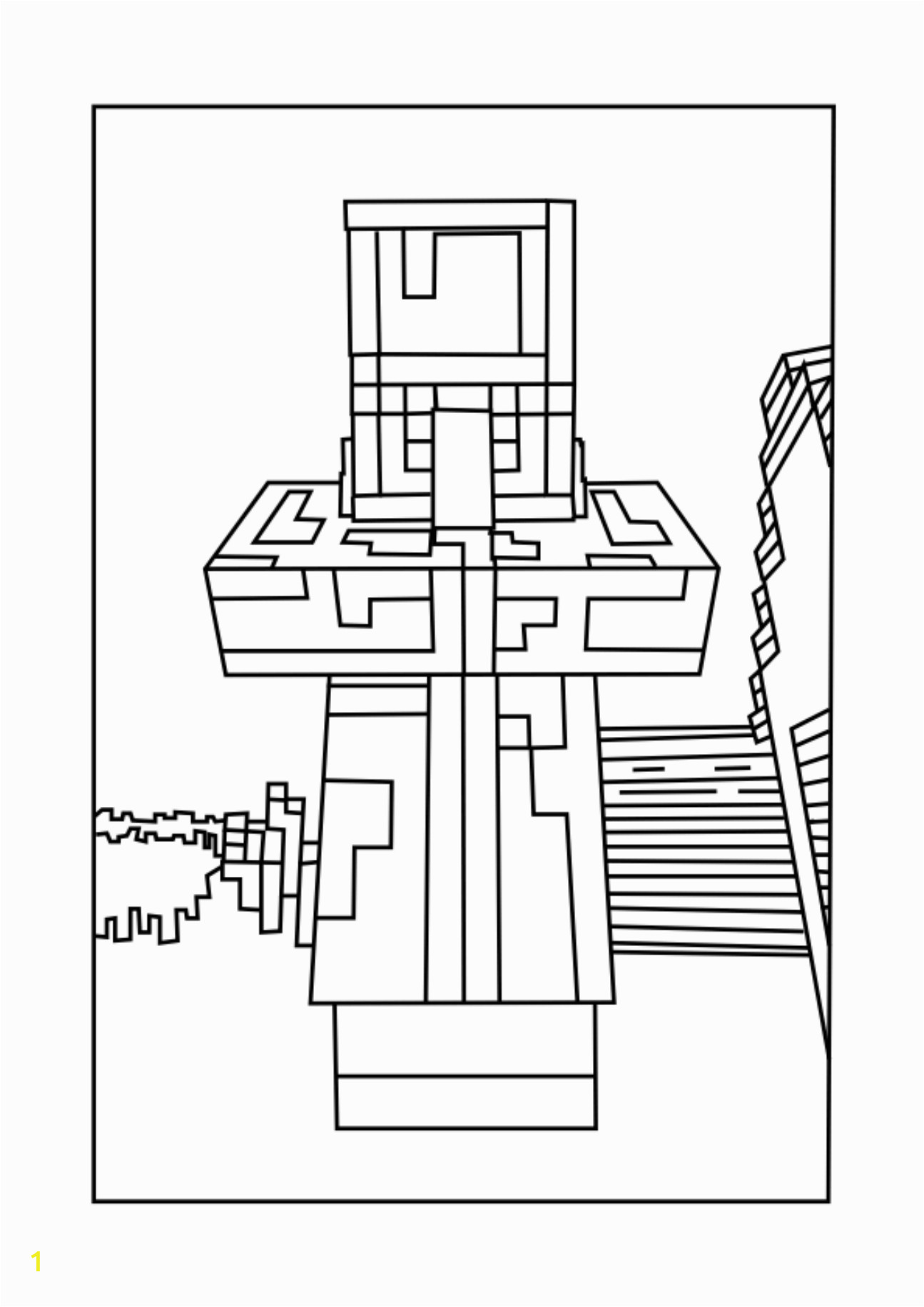 40f2a69b152c87eb054cce cd74e villager chicken minecraft coloring pages free printable 1295 1832