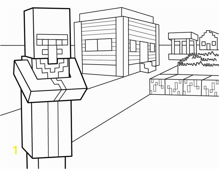 d352d3a644e9832c7c4f93c e 28 collection of minecraft village coloring pages high quality 736 568